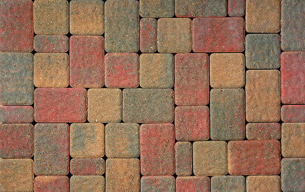 Olde Greenwich Cobble Autumn Red