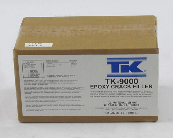 TK-9000 Epoxy Crack Filler 1/2 Gallon / 2 Quart Kit