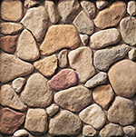 Cultured Stone River Rock, Earth Blend