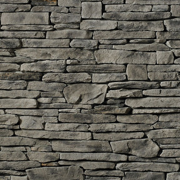 Cultured Stone® Southern Ledgestone, Flat, Gray, Handipak, 9 SF per Box