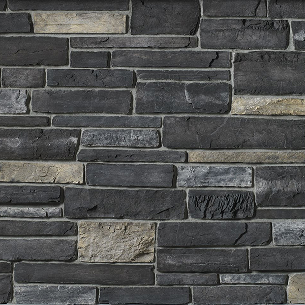 Cultured Stone Country- Black Rundle