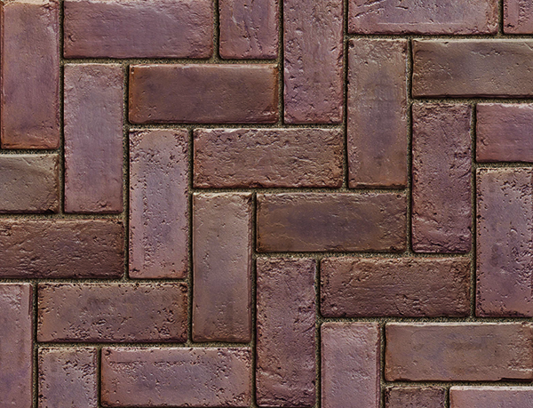 Town Hall Paver Burgundy Red