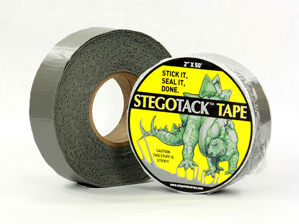 Stego Industries Stego Tack Tape Wrapped and Unwrapped Grey Tape Roll