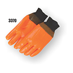 PVC Dipped Foam Lined Flambeau Orange Gloves