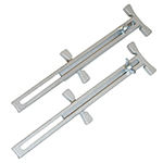 Pair of adjustable line stretchers