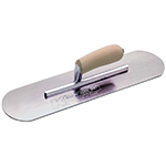 "14""x4"" Swedish Stainless Steel Pool Trowel w/Camel Back Wood Handle"