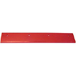 Squeegee,V-Shaped, Replacement Rubber Red Blade