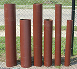Wall Prime Painted Bollard Post