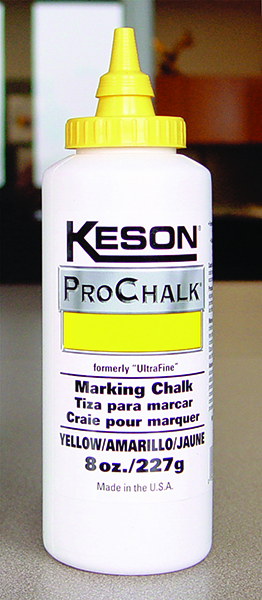 Keson 8ounce Yellow Pro Chalk