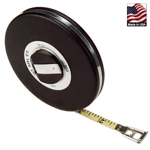 US Tape Black Vinyl Cover Steel Tape Measure, 50'