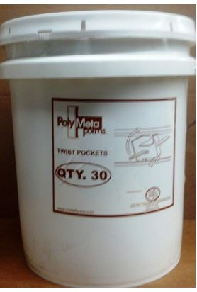 Metal Forms Poly Form Twist Pocket 869-040 (30/Bucket)