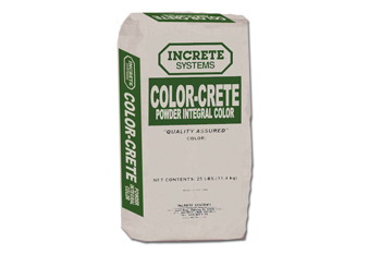 Bag of Increte Color-Crete Integral Color Powder