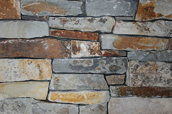 "BW Natural Thin Stone, Flat, Bulk, Mcgregor Lake Stacked Stone 1"" to 3"""