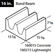 "16"" Concrete bond beam block"