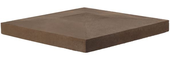 Anchor Flat Top Column Cap Brown