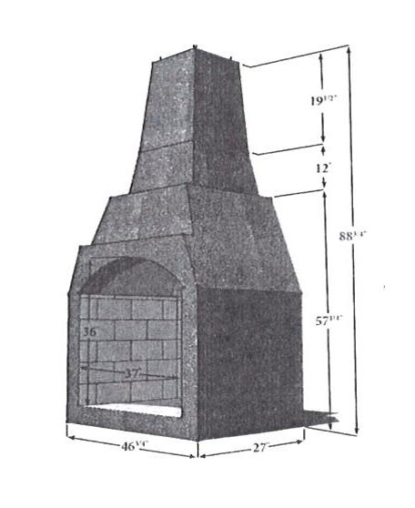 Borgert King Arthur Outdoor Fireplace