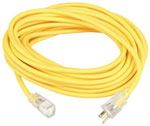 Coleman Cable Extension Cord-Single, w/Lighted End 100' 10/3