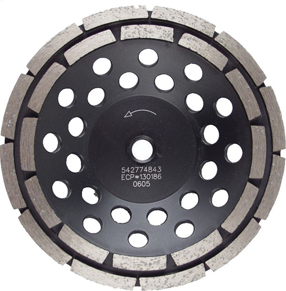 Double grinding cup wheel