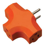 Coleman Cable 3 Outlet Adaptor, 09906