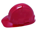 Jackson Safety Red Hard Hat with Ratchet Suspension