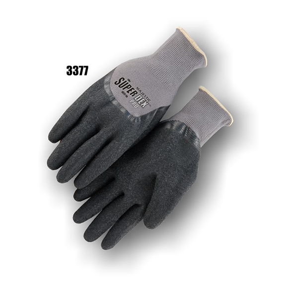Majestic Latex-Coated Gloves, Blue Palm L