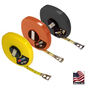 US Tape Tape Measure w/Yellow ABS Fiberglass Case, 100'/30M 58633