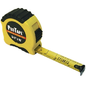 US Tape Modular Spacing Rubber Grip Tape Measure, 16'
