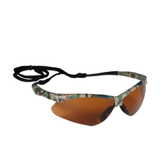 Safety Glasses, Bronze Lenses with Camo Frame