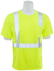 Lime short safety tshirt