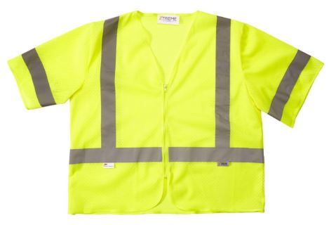 Xtreme Visibility Class 3 Yellow Safety Vest with Sleeves