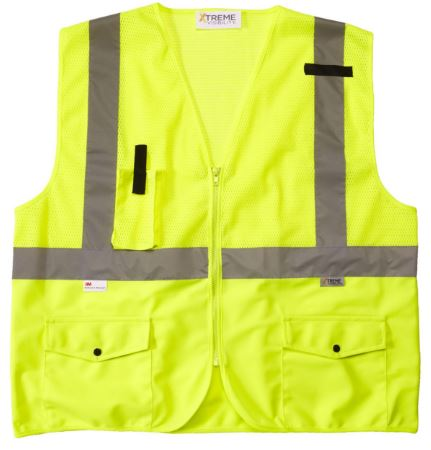Xtreme Visibility Class 2 Surveyor Lime Safety Vest