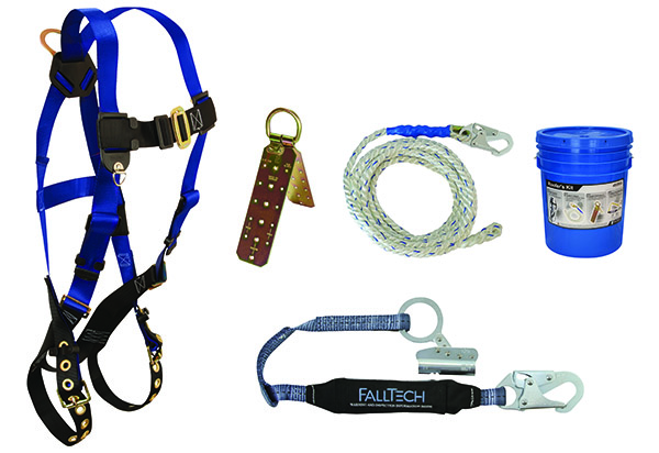 Falltech Contractor Harness w/Roofers Fall Protection Kit