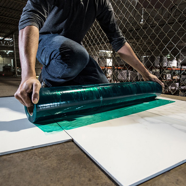 """Hard Surface Protection Poly, Blue 24""""x50'"""