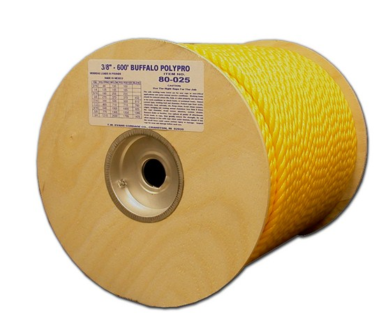 "Rope 1/4"" Polyester 3000' Yellow"
