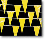 Perimeter Marker Flags, Yellow String, 105'