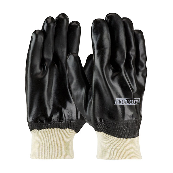 PVC Dipped Gloves with Interlock Liner