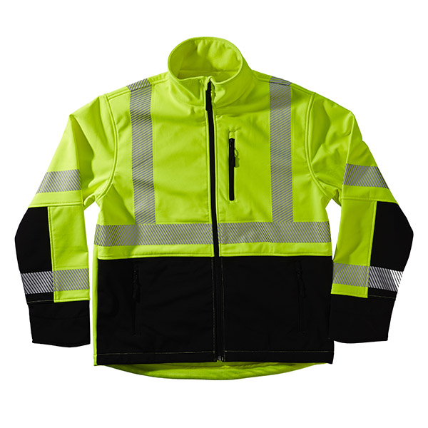 Xtreme Visibility Safety Jacket Soft Shell Class II, Lime, 2XL