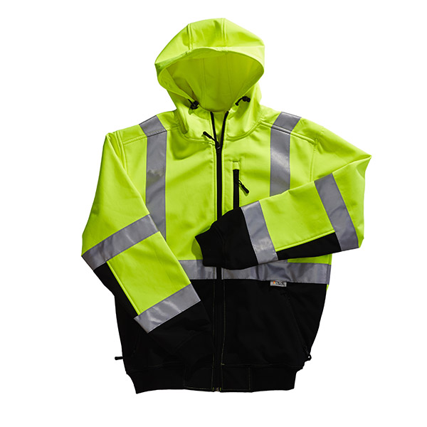 Xtreme Visibility Hooded Safety Jacket Class II, Lime, M