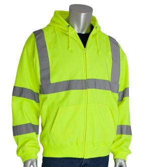 PIP Yellow Hi-Vis Hooded Sweatshirt