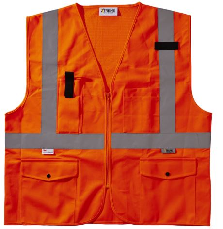 Xtreme Visibility Class 2 Surveyor Orange Safety Vest