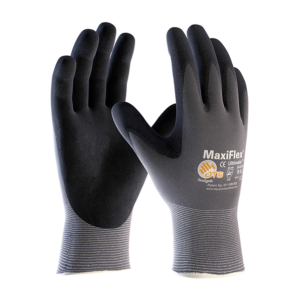 PIP Gloves Nitrile Maxiflex Ultimate, Black/Gray, 2XL