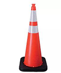 Reflective stripe orange cone