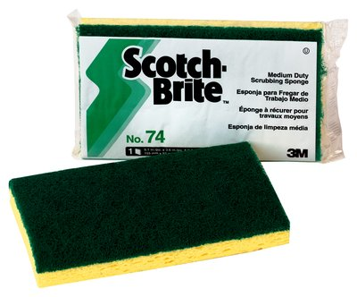Scotch-Brite™ Medium Duty Green Scrub Sponge 74