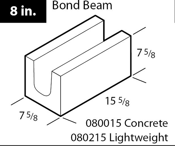 "8"" Concrete bond beam block"