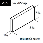 "2"" solid / soap concrete block"
