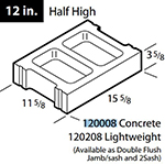 "Concrete 12"" half high block"