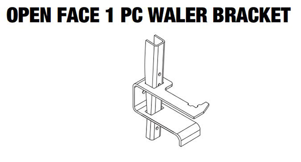 "WALER CLAMP 2"" X 4"" ONE PIECE OPEN FACE 055-0011"
