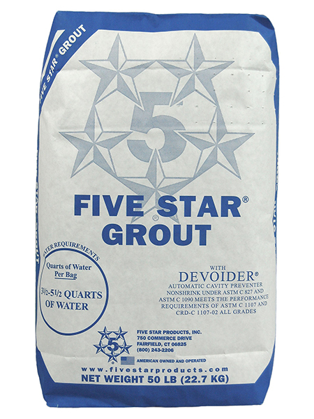 Five Star Grout, 50 Lb