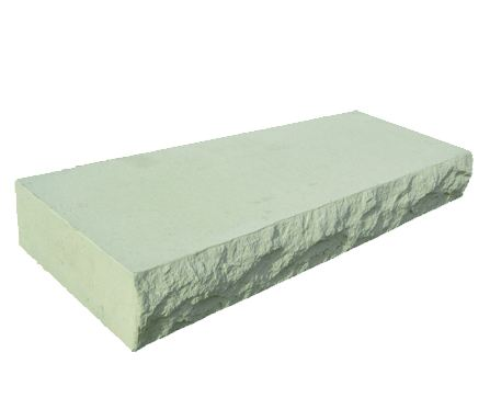 Rochester Concrete Smooth Top Step Ivory