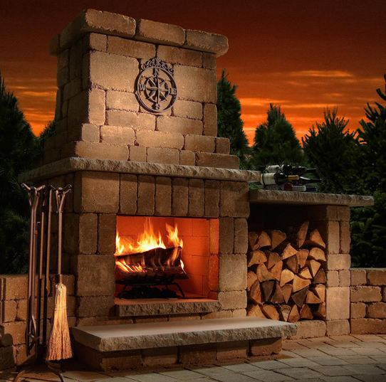 Rochester Concrete Colonial Fireplace Kit